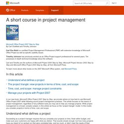 A short course in project management - Project