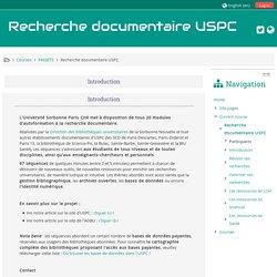 Cours: Recherche documentaire