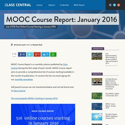 MOOC Course Report: January 2016
