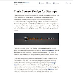 Crash Course: Design for Startups