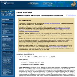 GEOG 497D: LIDAR Technology and Applications