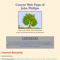 Course Website of John Phillips