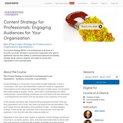 Content Strategy for Professionals: Engaging Audiences for Your Organization