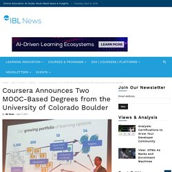 Coursera Announces Two MOOC-Based Degrees from the University of Colorado Boulder