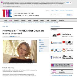 How was it? The UK's first Coursera Moocs assessed