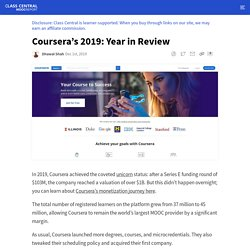 Coursera's 2019: Year in Review