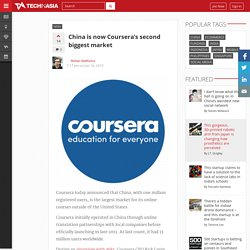 China is now Coursera's second biggest market