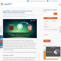 Flash to HTML5 Courses, Articulate Storyline 360 Case Study