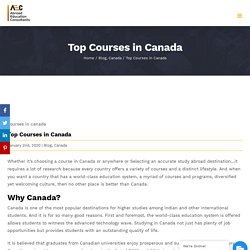 Top Courses in Canada to Choose - AEC Study Abroad