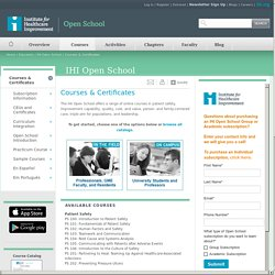 Courses & Certificates