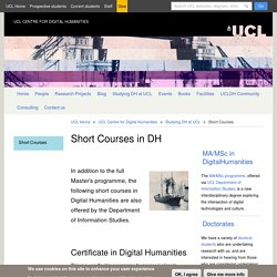 UCL Centre for Digital Humanities