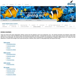 SWEDEN, DIVING COURSES: Discover underwater world with us