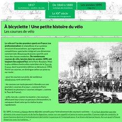Les courses de vélo - exposition virtuelle