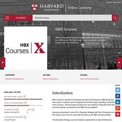 Harvard Online Learning Portal