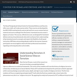 Self-study Courses – Center for Homeland Defense and Security