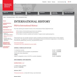 Geneva - Courses 2014-2015 - PhD in International History