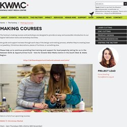 Making Courses at The Factory - Laser cut jewellery, products and more