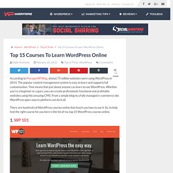 Top 15 Courses To Learn WordPress Online