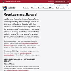 Harvard Open Learning Initiative