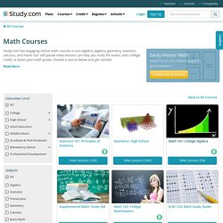 Study.com_Math Courses - Online Classes with Videos
