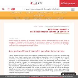 IRCEM / Faire vos courses : les précautions contre le covid-19