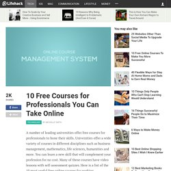 10 Free Courses for Professionals You Can Take Online
