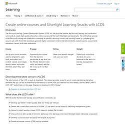 Learning: Rapidly Create Online Courses