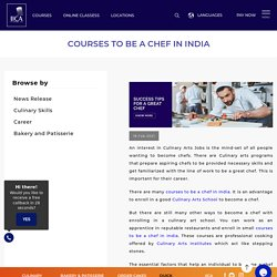 Chef Courses in India