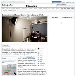 MOOCs, Large Courses Open to All, Topple Campus Walls