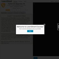 Learn Python - Learnstreet