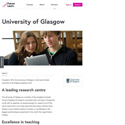 Free online courses from University of Glasgow — FutureLearn
