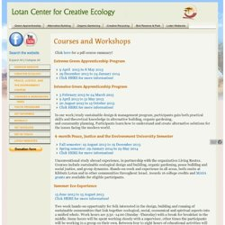 Courses and Workshops - Lotan Center for Creative Ecology