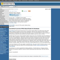 CourseSmart Launches HTML5-Based Reader for Etextbooks