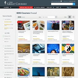 The Great Courses® - Audio & Video Lectures from The World's Best Professors