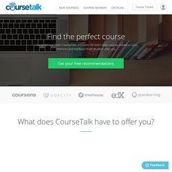 CourseTalk - MOOC Reviews & Ratings