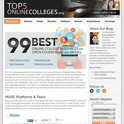 99 Best Online College Resources on Open Courseware & MOOCs