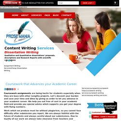 Coursework that advances your academic career.