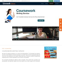 CourseWork Writing Services - Best CourseWork Writers