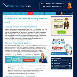 Coursework Writing Help & Service UK