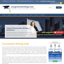 Coursework Writing Help & Coursework Writing Services