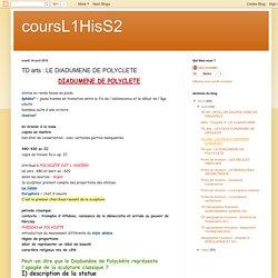 coursL1HisS2: TD arts : LE DIADUMENE DE POLYCLETE