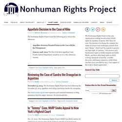 Court Cases : The Nonhuman Rights Project