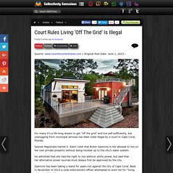 Court Rules Living 'Off The Grid' Is Illegal