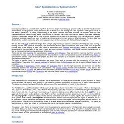 court specialization
