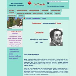 Courte biographie de Coluche