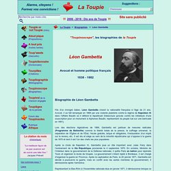 Courte biographie de Léon Gambetta