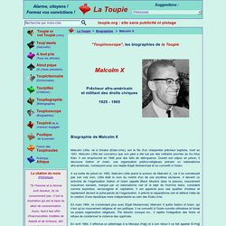 Courte biographie de Malcolm X
