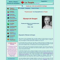Courte biographie de Olympe de Gouges