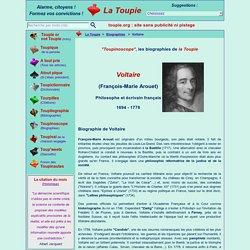Courte biographie de Voltaire