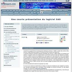 Une courte pr sentation du logiciel SAS